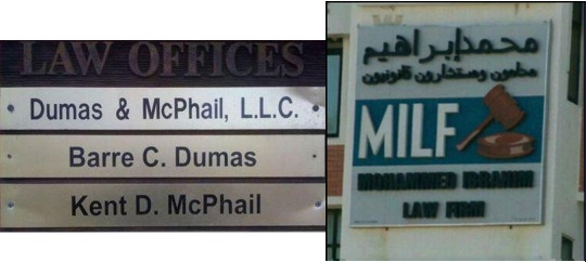 these two small solicitors have very amusing SME brand names