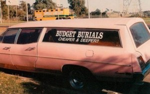 Budget burials with the budget SME brand names and interesting small business logo