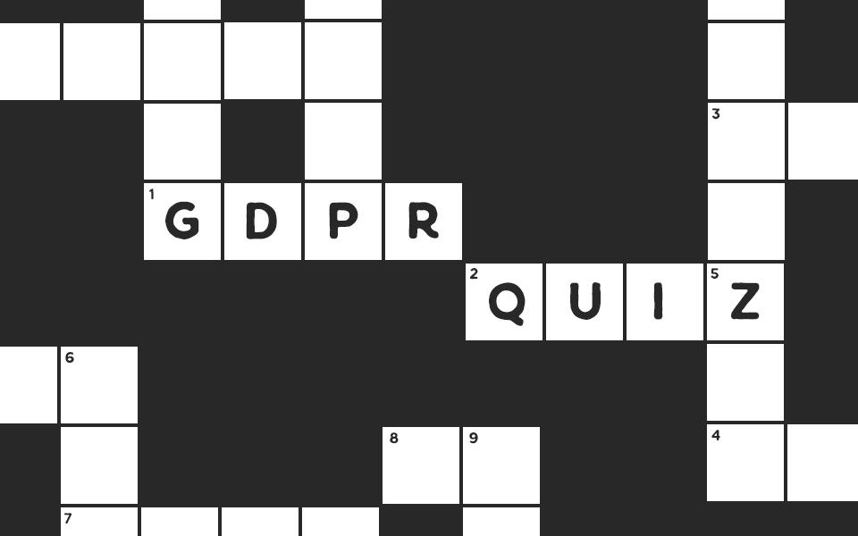 GDPR quick quiz