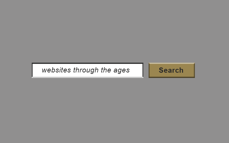 Websites through the ages